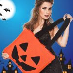 bolsa croche halloween