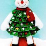 boneco neve tecido