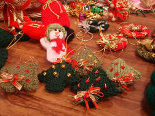 enfeite natal trico