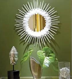 espelho com colheres plastico