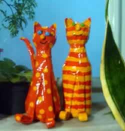 gatos de garrafa pet