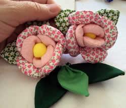 rosas enchimento tecido