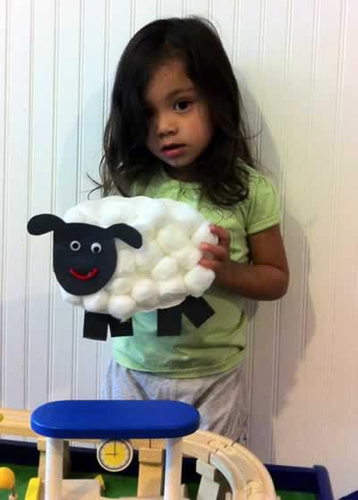 ovelhinha de algodao para pascoa