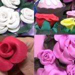 como fazer rosas de EVA passo a passo