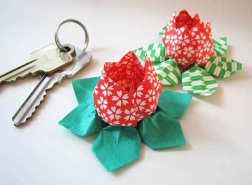 flor de lotus em origami passo a passo