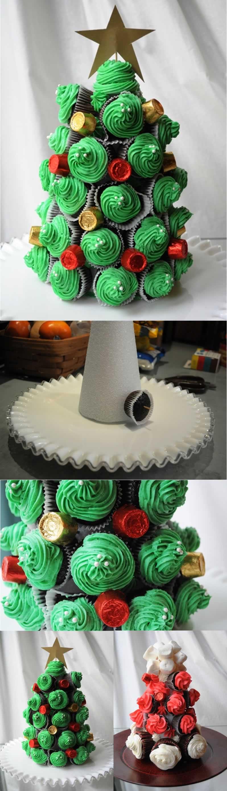 arvore-de-natal-de-cupcakes