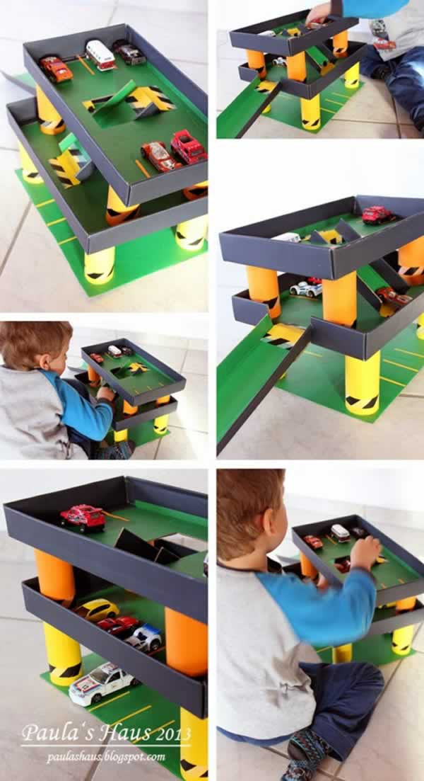 brinquedos-faceis-de-fazer-garagem